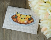 Cross Stitch Pattern - Pikachu Curry