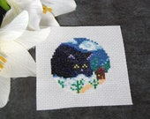 Cross Stitch Pattern - Yule Cat