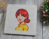 Cross Stitch Pattern - Penny Portrait - Stardew Valley