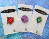 Cross Stitch RPG Guilds 1 inch Enamel Pin / Magnet / Needleminder