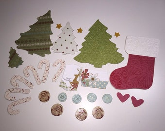 Christmas Card /scrapbook Embellishments- 26 pieces