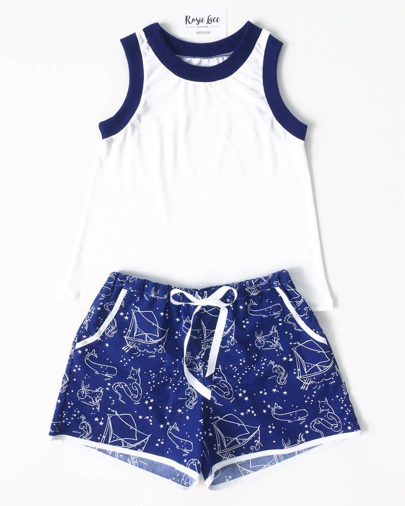 Galaxy pajama set womens pyjama set blue constellation  4c30f782aef