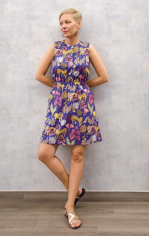 c654c9b69edd Jungle boogie summer dress Sleeveless casual button dress
