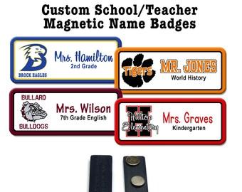 teacher name badge etsy