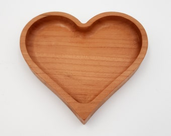 Heart-Shaped Wood Trays for Love, Weddings, Anniversary, Bridal Showers - Heart Bowls - Heart Catchalls - Heart Ring Dish - Favor