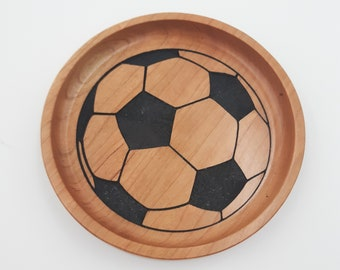 Soccer Wood Trays for Coaches, Players - Sports Trays - Baseball, Soccer, Lacrosse, Volleyball, Softball, Basketball - Coach Gift
