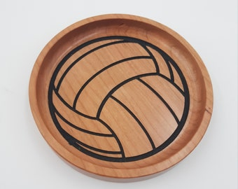 Volleyball Wood Trays for Coaches, Players - Sports Trays - Baseball, Soccer, Lacrosse, Volleyball, Softball, Basketball - Coach Gift