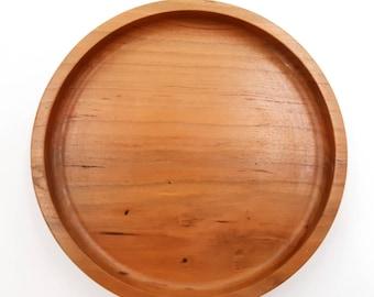 Round Wood Tray - Circle Wood Bowl - Round Catchall - Circle Ring Dish