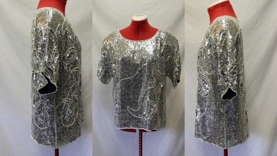 VTG 80s Sequin and Pearl Jean for Joseph Le Bon Gl