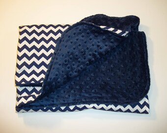 Personalized Navy Blue/White Chevron Seat Canopy