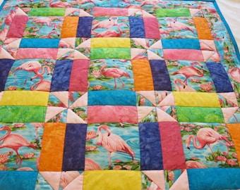 Dancing Flamingo Quilt Pattern