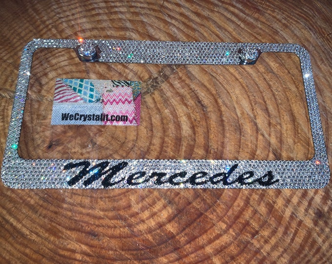 Mercedes Crystal Sparkle Auto Bling Rhinestone  License Plate Frame with Swarovski Elements Made by WeCrystalIt