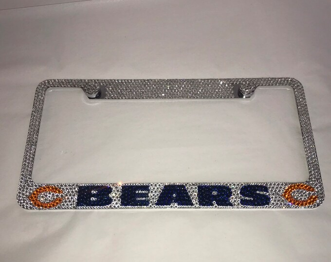 Eagles Crystal Sparkle Auto Bling Rhinestone  License Plate Frame with Swarovski Elements Made by WeCrystalIt