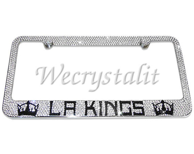 LA Kings Crystal Sparkle Auto Bling Rhinestone  License Plate Frame with Swarovski Elements Made by WeCrystalIt