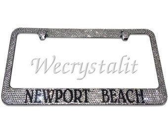 Newport Beach Crystal Sparkle Auto Bling Rhinestone  License Plate Frame with Swarovski Elements Made by WeCrystalIt