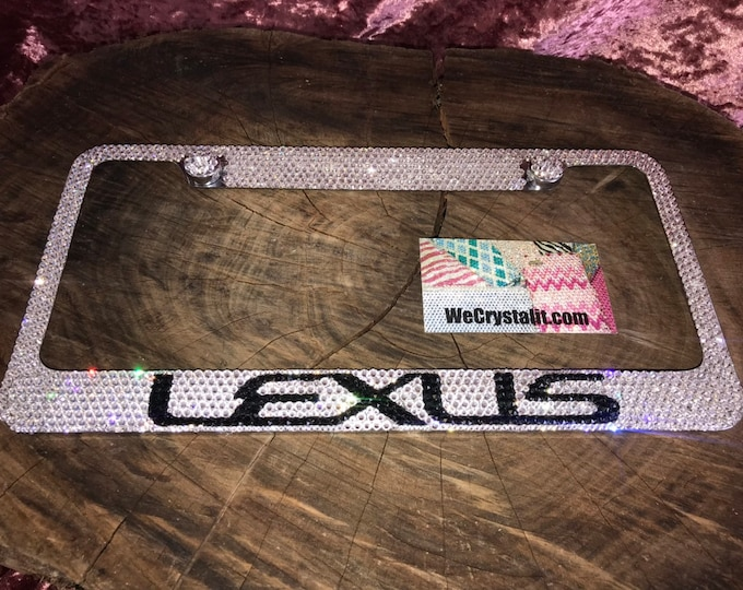 Lexus Crystal Sparkle Auto Bling Rhinestone  License Plate Frame with Swarovski Elements Made by WeCrystalIt