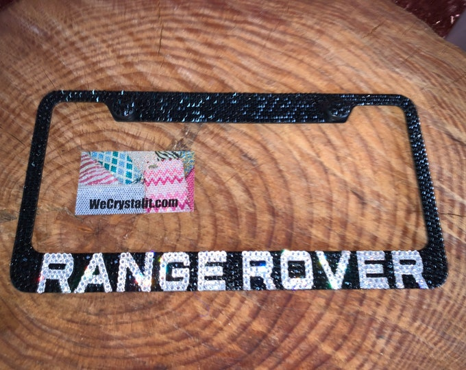 Range Rover Crystal Sparkle Auto Bling Rhinestone  License Plate Frame with Swarovski Elements Made by WeCrystalIt
