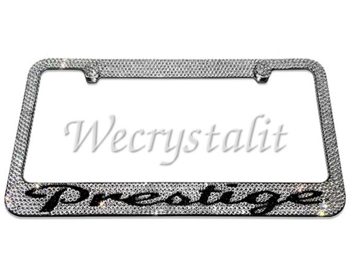 Prestige Crystal Sparkle Auto Bling Rhinestone  License Plate Frame with Swarovski Elements Made by WeCrystalIt