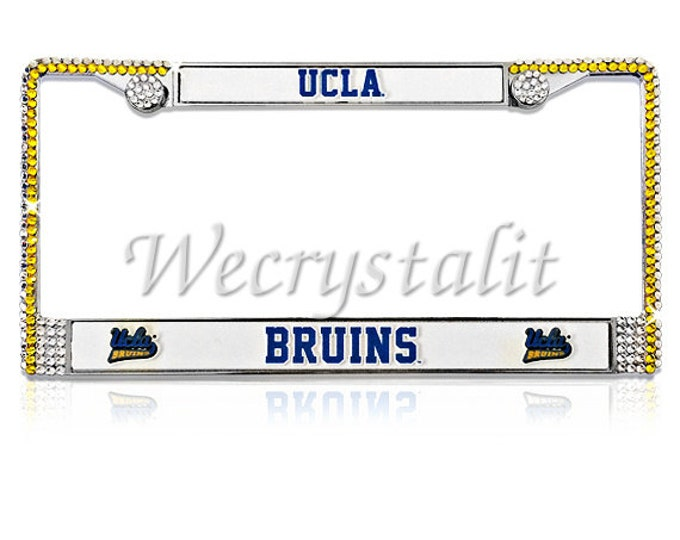 UCLA License Crystal Bruins Sport Football Frame Sparkle Auto Bling Rhinestone Plate Frame with Swarovski Elements Made by WeCrystalIt