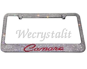 Camaro Crystal Sparkle Auto Bling Rhinestone  License Plate Frame with Swarovski Elements Made by WeCrystalIt