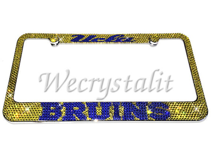 UCLA Bruins Football Crystal Sparkle Auto Bling Rhinestone  License Plate Frame with Swarovski Elements Made by WeCrystalIt
