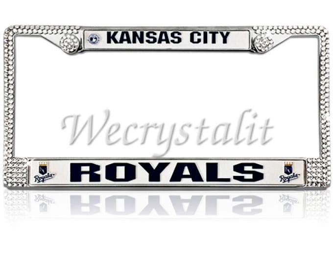 Royals License Crystal Kansas City Frame Crystal Sparkle Auto Bling Rhinestone  Plate Frame with Swarovski Elements Made by WeCrystalIt