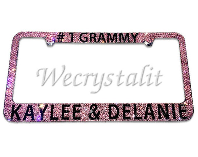Grammy # 1 Crystal Sparkle Auto Bling Rhinestone  License Plate Frame with Swarovski Elements Made by WeCrystalIt