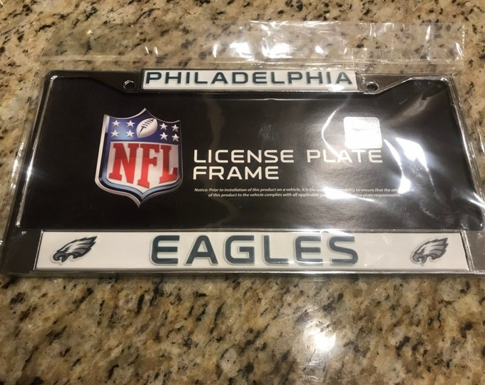 Eagles License Crystal Philadelphia Sport on Silver Frame palte by WeCrystalIt