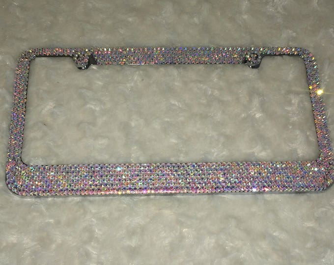 AB Crystal Sparkle Auto Bling Rhinestone  License Plate Frame with Swarovski Elements Made by WeCrystalIt