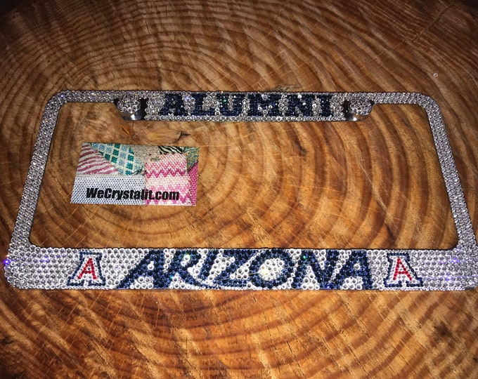 Arizona alumni Crystal Sparkle Auto Bling Rhinestone  License Plate Frame with Swarovski Elements Made by WeCrystalIt