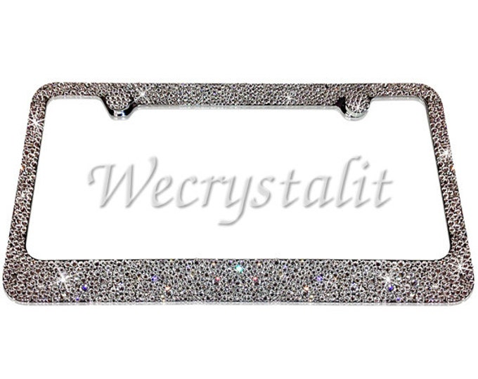 Clear Bumpie Swarovski Crystal Sparkle Auto Bling Rhinestone License Plate Frame Made with Swarovski Elements Made by WeCrystalIt