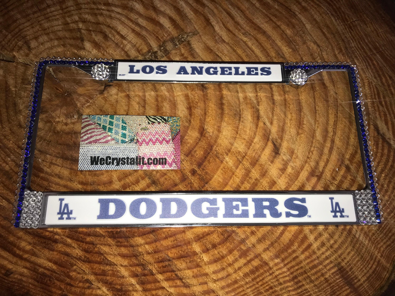 Los Angeles Dodgers License Crystal Sport Silver Frame