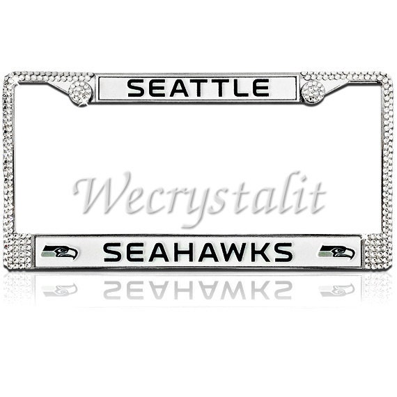 Seattle Seahawks Football Frame Crystal Sparkle Auto Bling ...