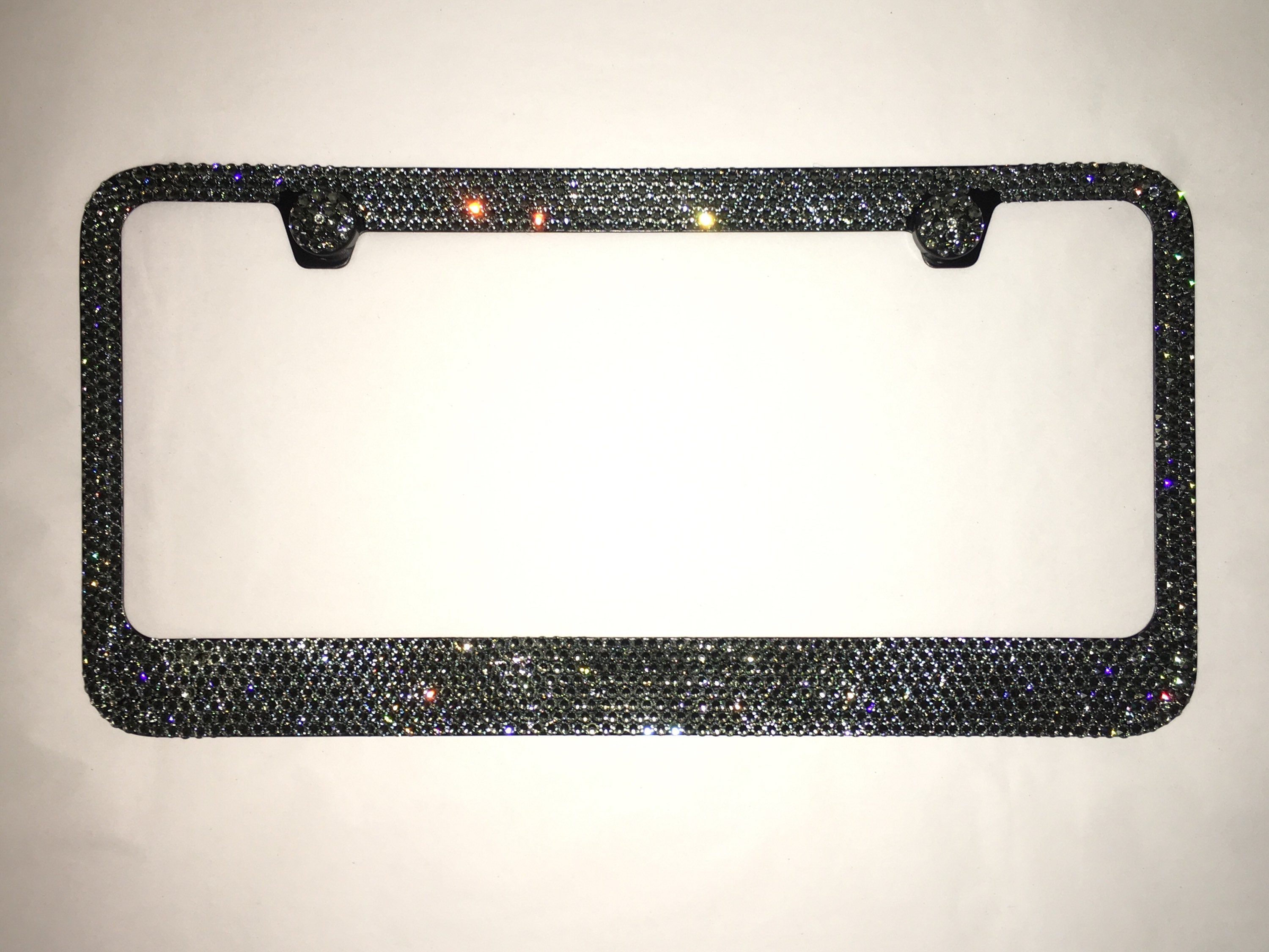 Black Diamond smoked gray 8 Row Swarovski Crystal Sparkle Auto Bling ...