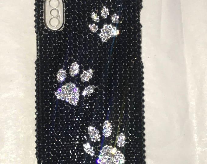 Puppy IPhone 12 max pro Swarovski Puppy Paws Crystal Sparkle Phone Case Bling Rhinestone Made with Swarovski crystal Elements by WeCrystalIt