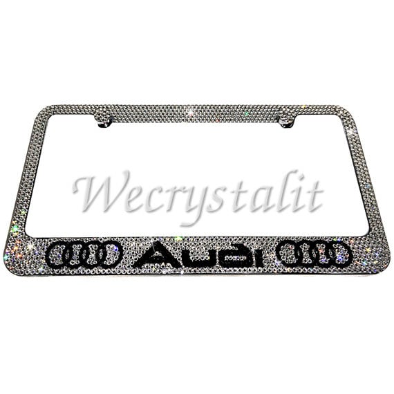 Audi Crystal Sparkle Auto Bling Rhinestone License Plate Frame Made ...