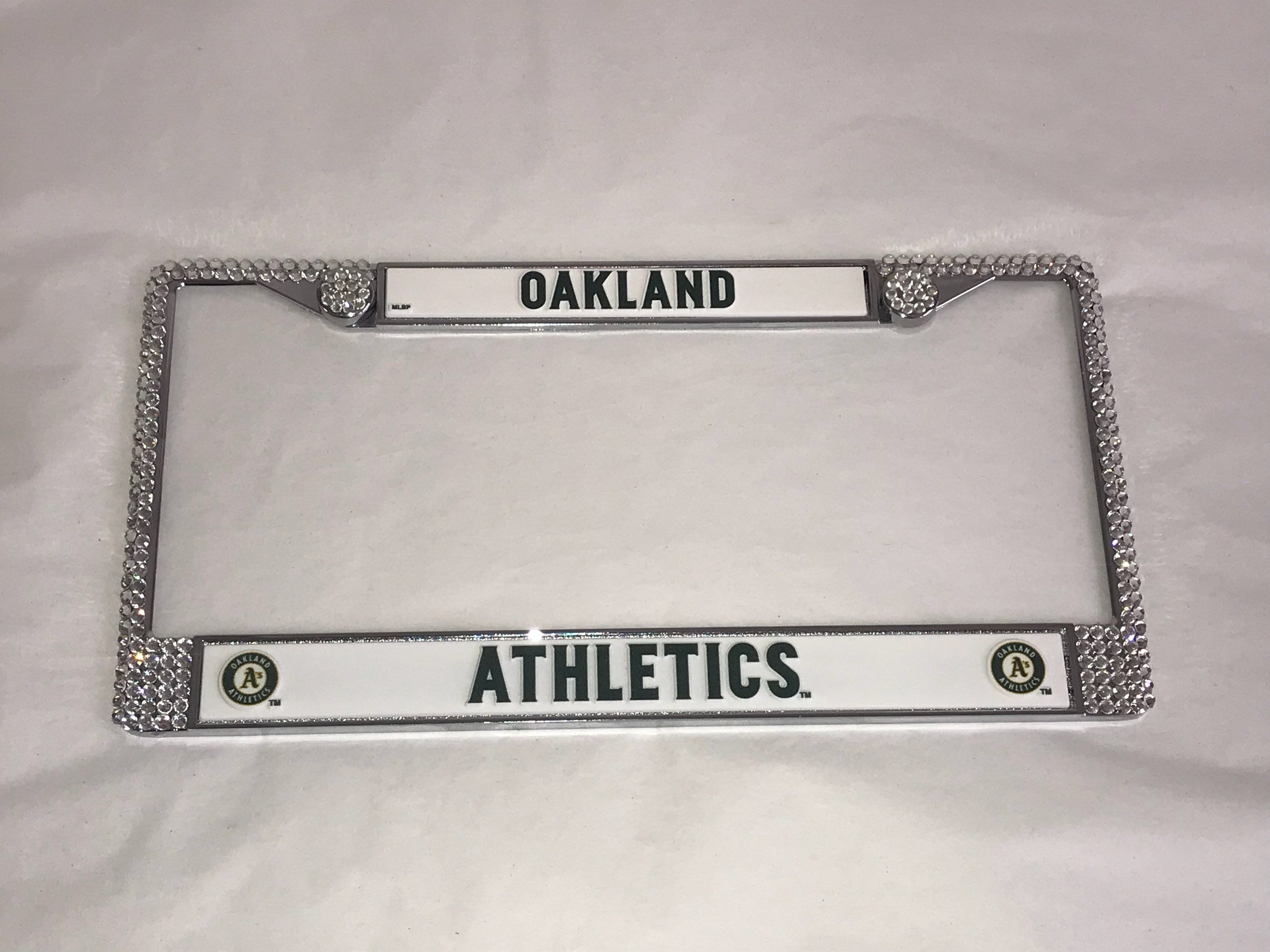 Oakland Athletics Sport Silver Frame Crystal Sparkle Auto Bling ...