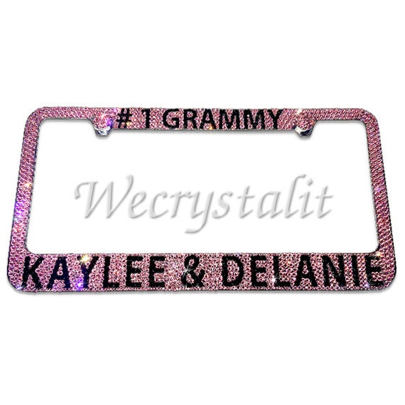 Grammy #1 Crystal Sparkle Auto Bling Rhinestone License Plate Frame ...