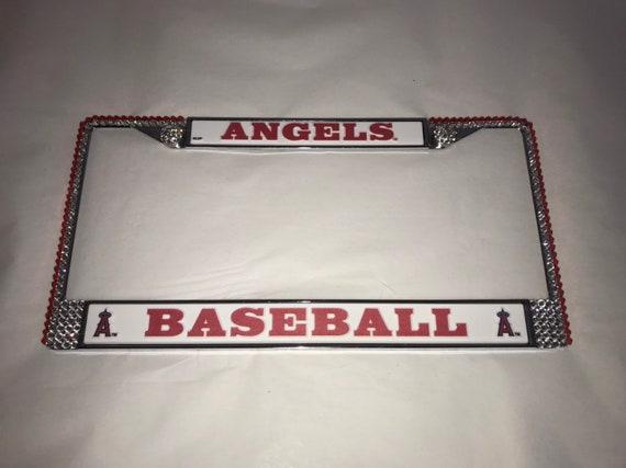 LOS ANGELES DODGERS Baseball Bling License Plate Frame Made W// Swarovski Crystal