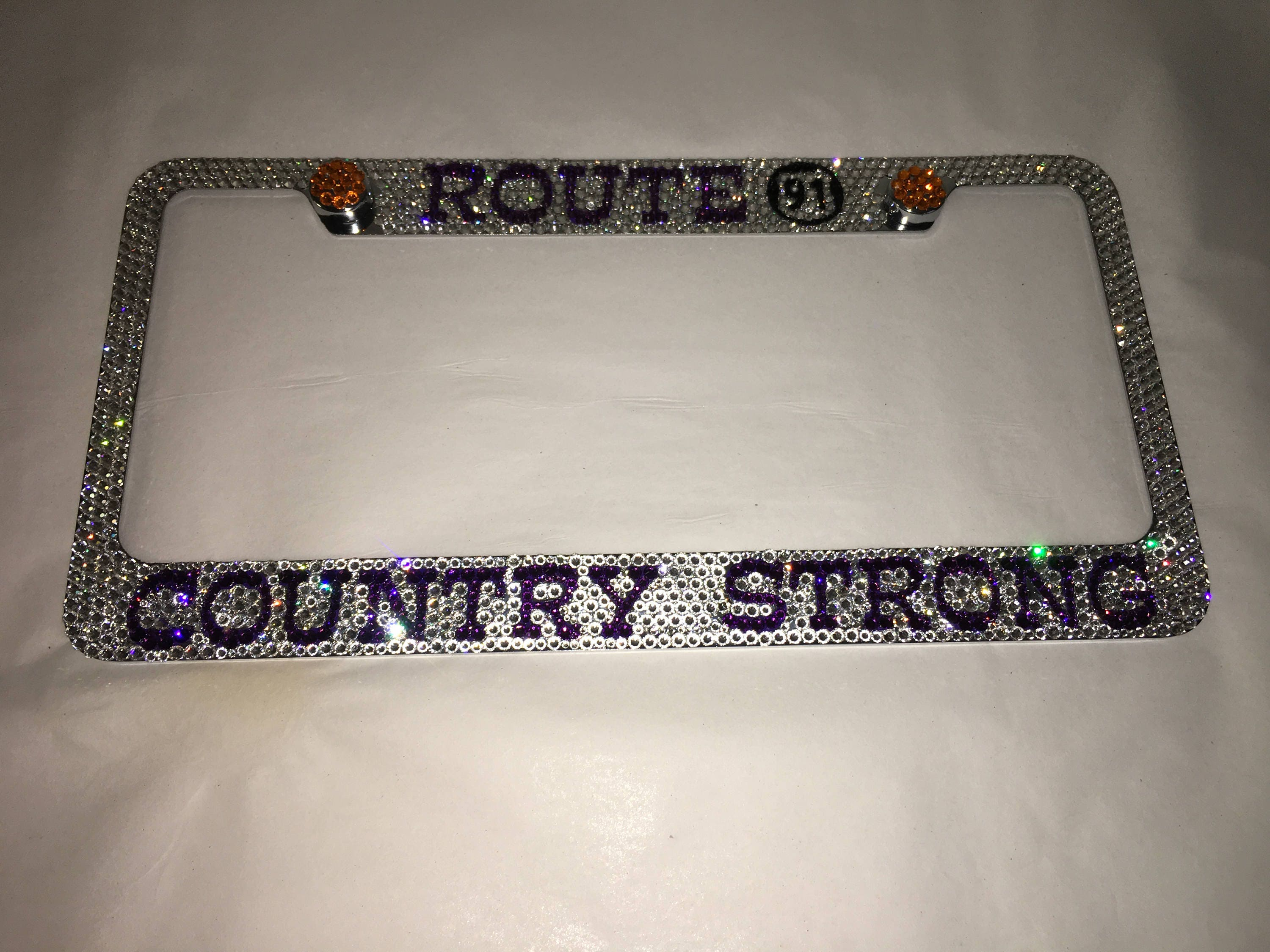 Route 91 Country Strong Crystal Sparkle Auto Bling Rhinestone ...