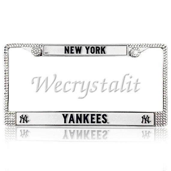 Yankees Sport baseball Frame Crystal Sparkle Auto Bling Rhinestone ...