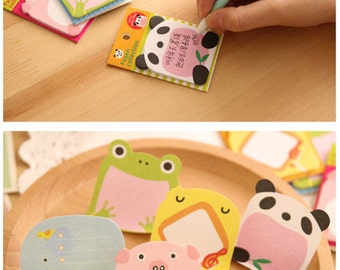 Sticky Notes - Animal Collection 1 (4pkts) | Back to School | Office Supplies | Memo | Message | Notes