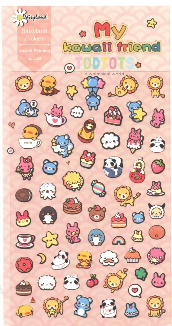 My Kawaii Animal Friend Sticker Gift Ideas Small Stickers Etsy