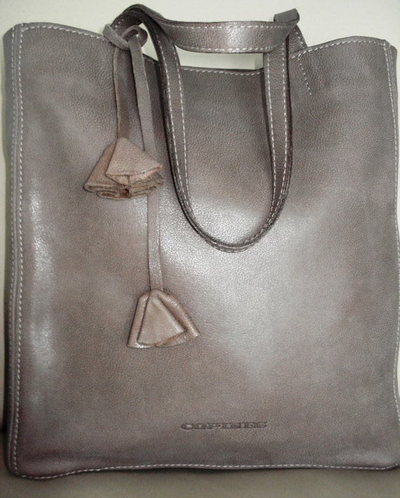 098fb7023c SALE Leather Bag Capuchino Color Leather Tote Bag Large
