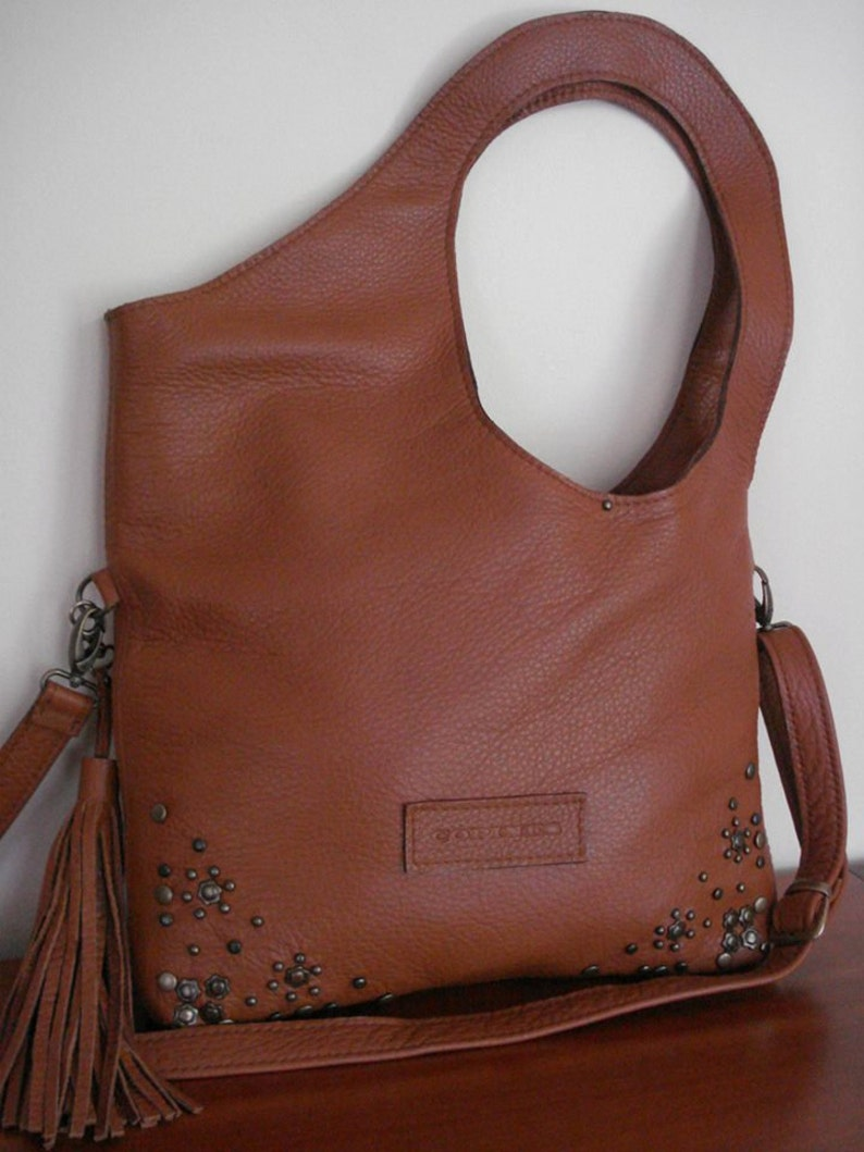 ba347c43d5 Leather bag camel color Leather Tote Bag Large CarryAll