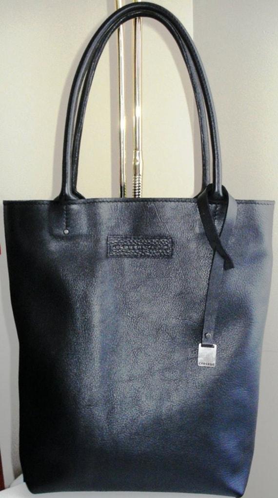 f88e2b900d Leather Bag Black Color Leather Tote Bag Large CarryAll