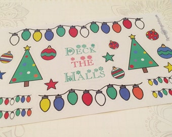 Christmas Decor Planner Stickers