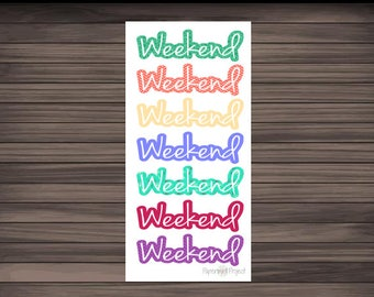 Weekend Planner Sticker