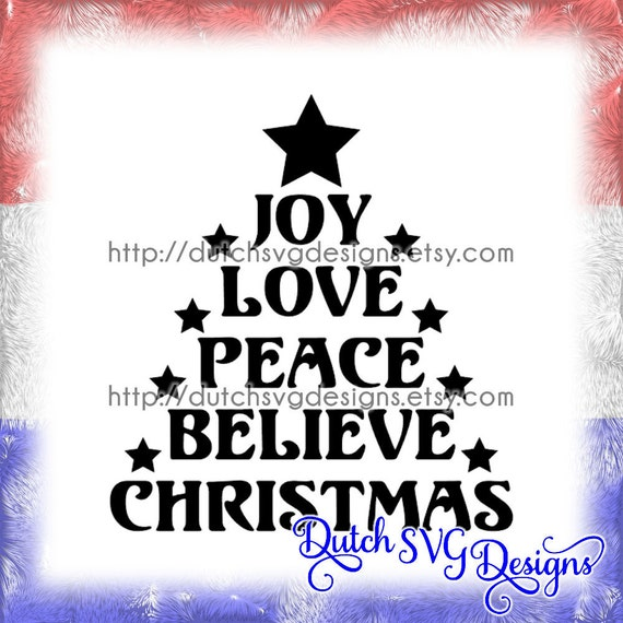 Text Cutting File In The Shape Of A Christmas Tree With Stars Etsy