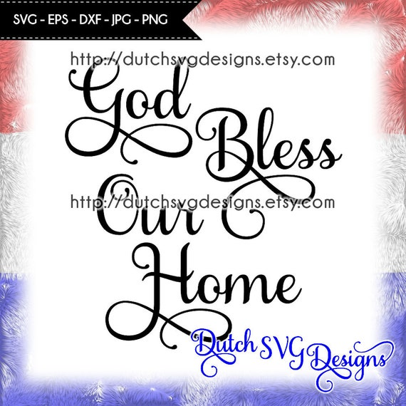 View God Bless America / Svg Dxf Png Eps Cutting File Silhouette Cricut Scal SVG